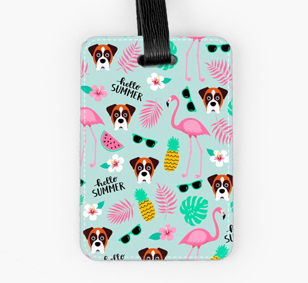 Boxer Luggage Tag Front