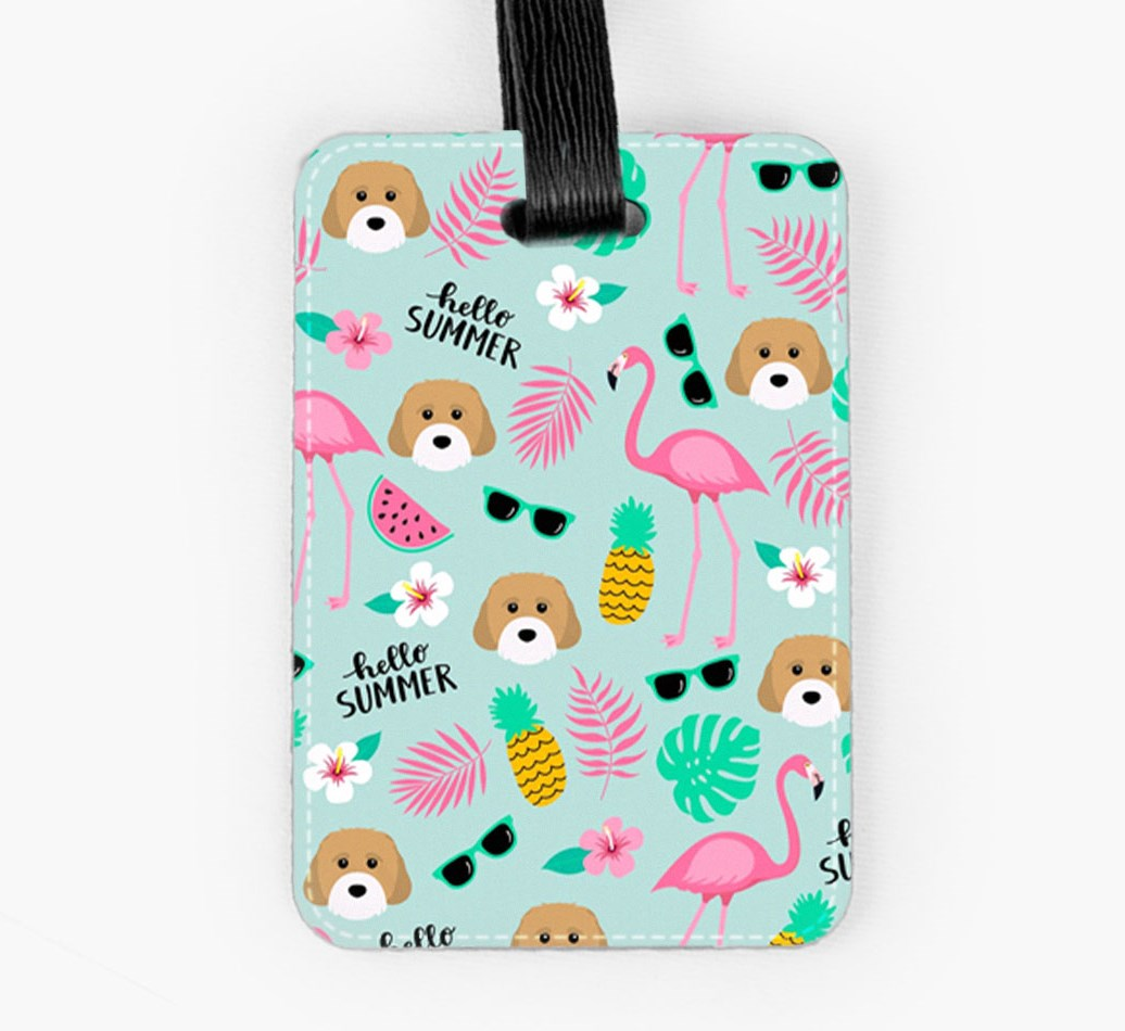 Cavachon Luggage Tag Front