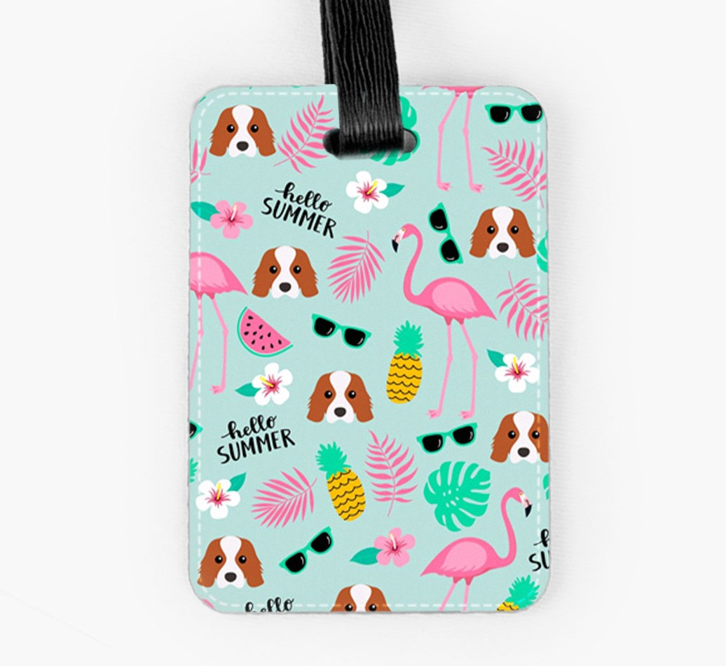 Cavalier King Charles Spaniel Luggage Tag Front