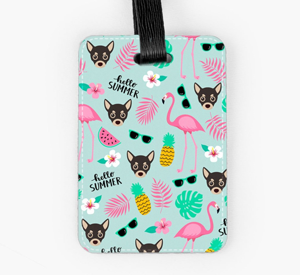 Chihuahua Luggage Tag Front