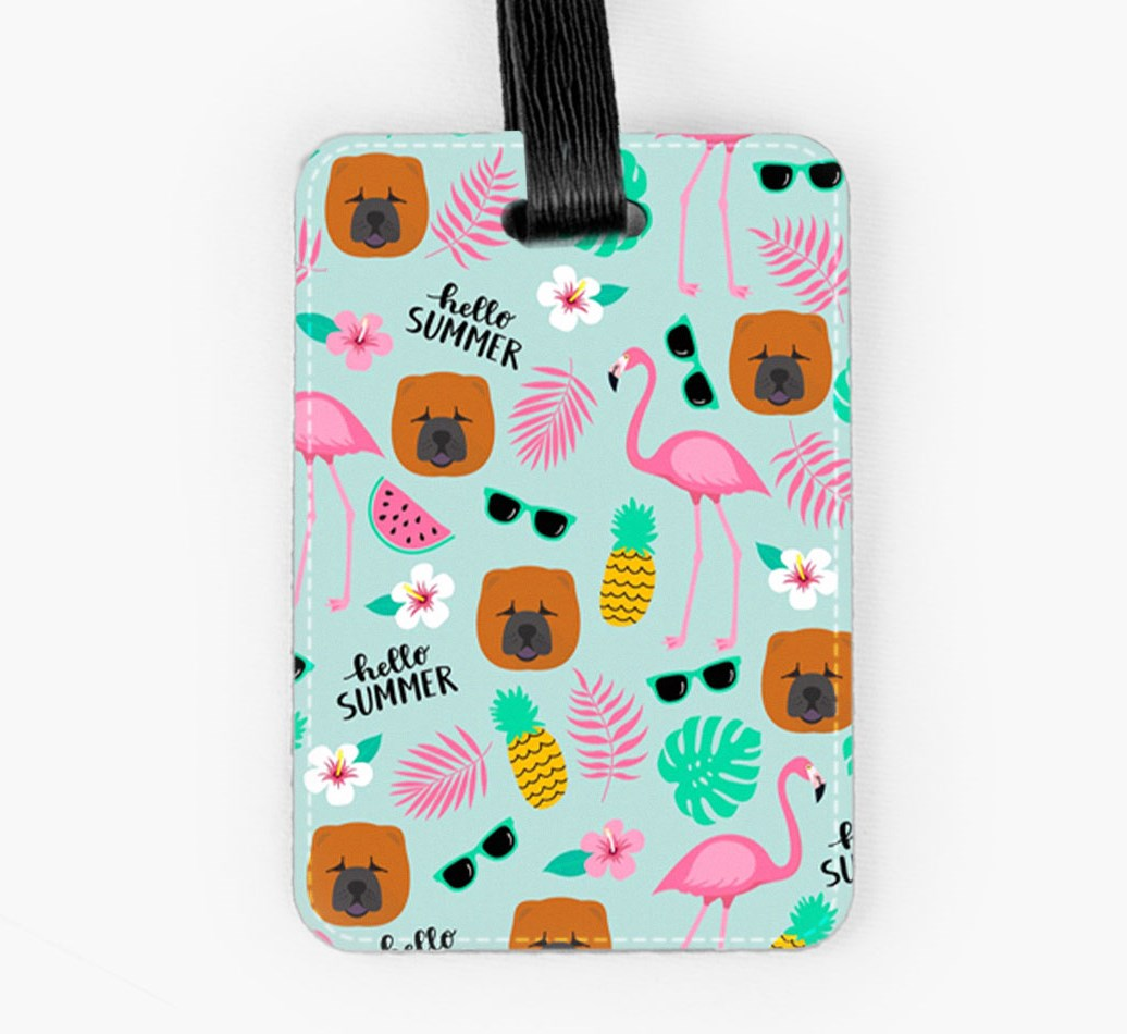 Chow Chow Luggage Tag Front