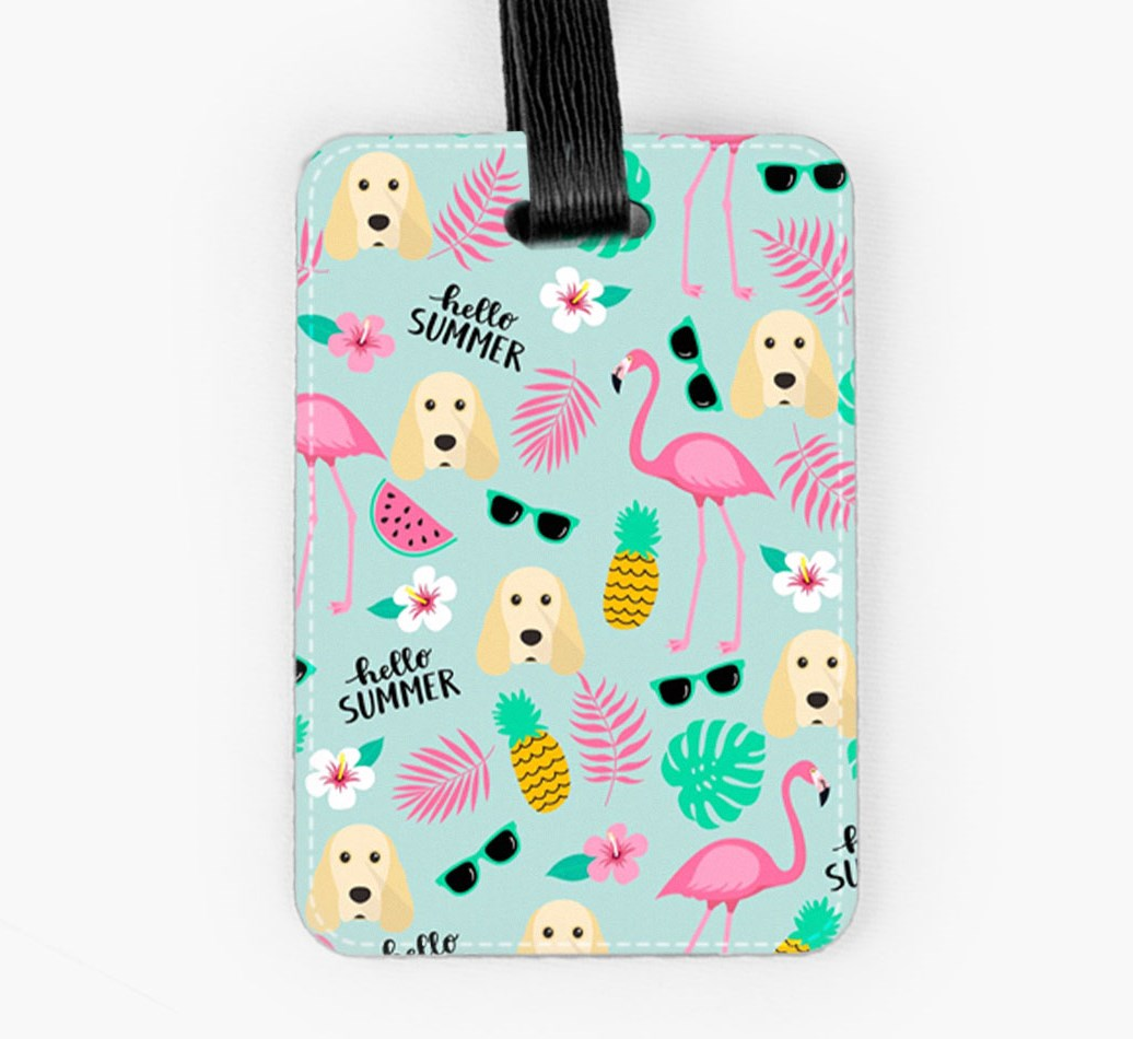 Cocker Spaniel Luggage Tag Front