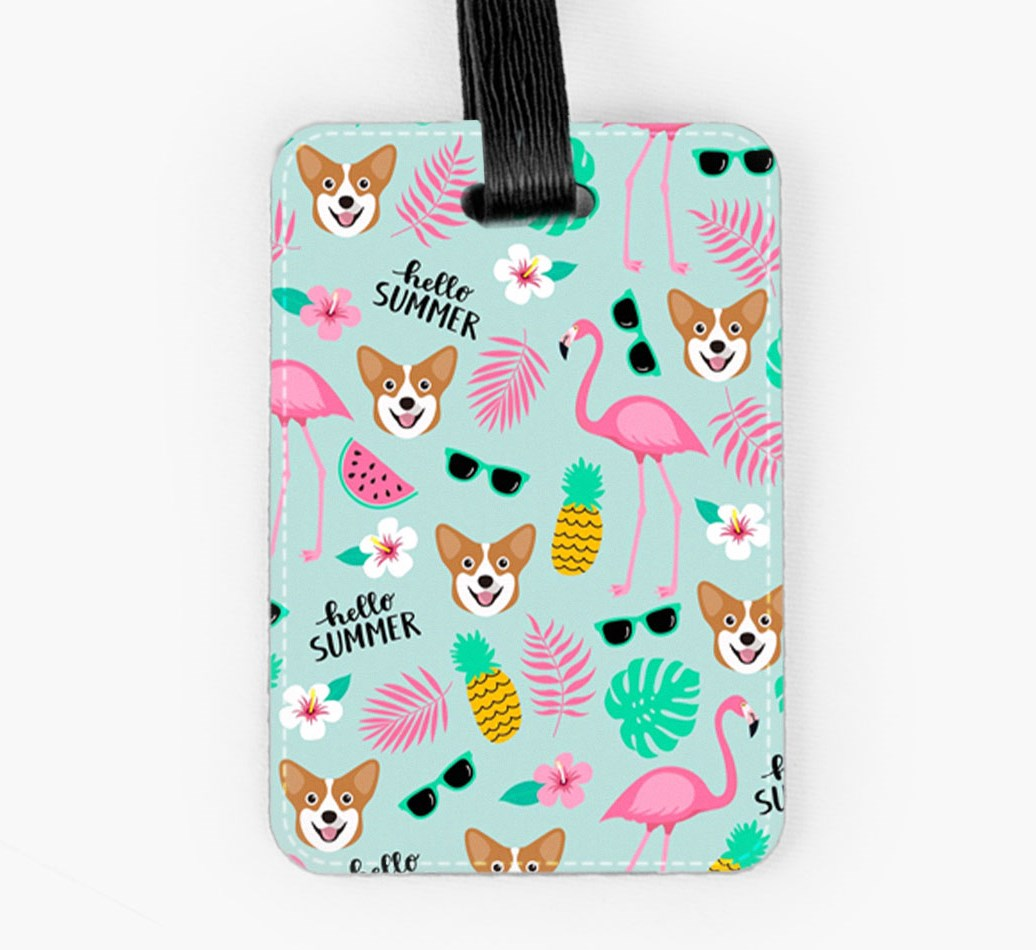 Corgi Luggage Tag Front