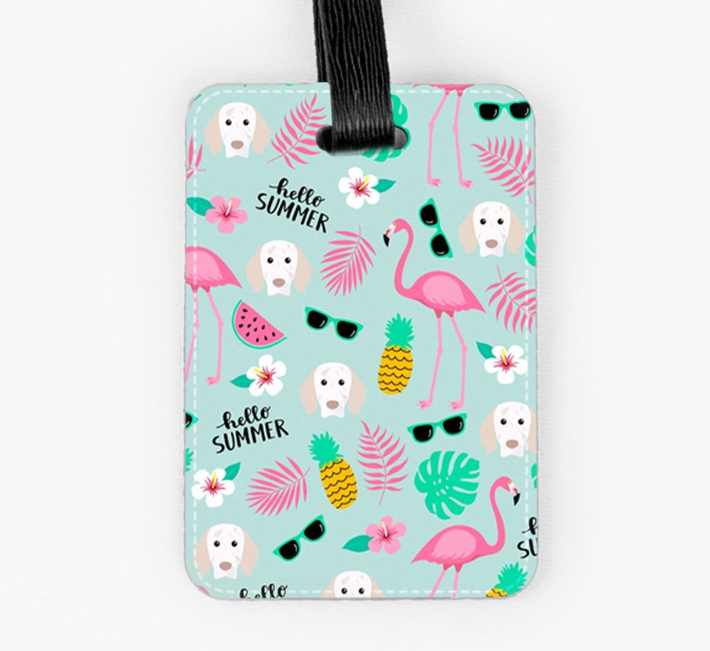English Setter Luggage Tag Front