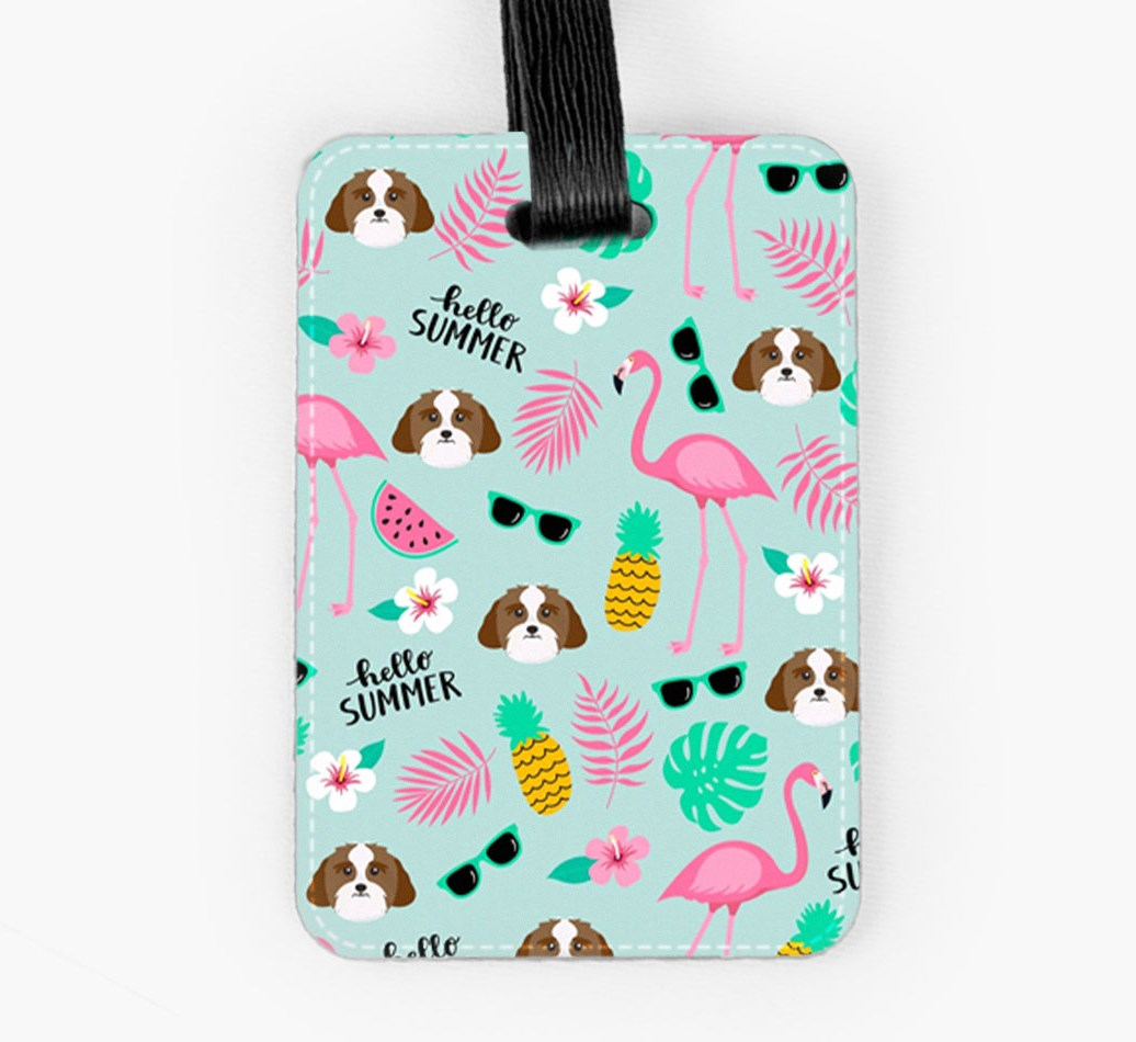 Lhasa Apso Luggage Tag Front