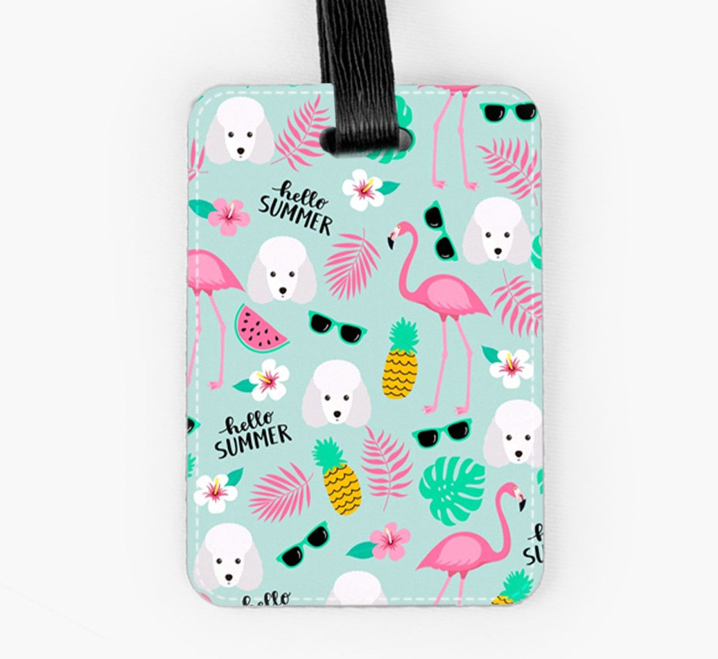 Miniature Poodle Luggage Tag Front