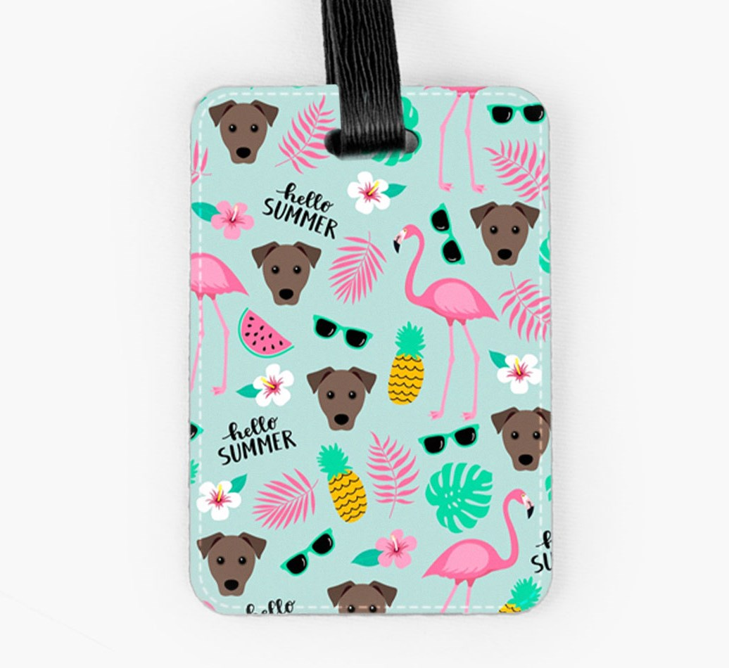 Mixed Breed Luggage Tag Front
