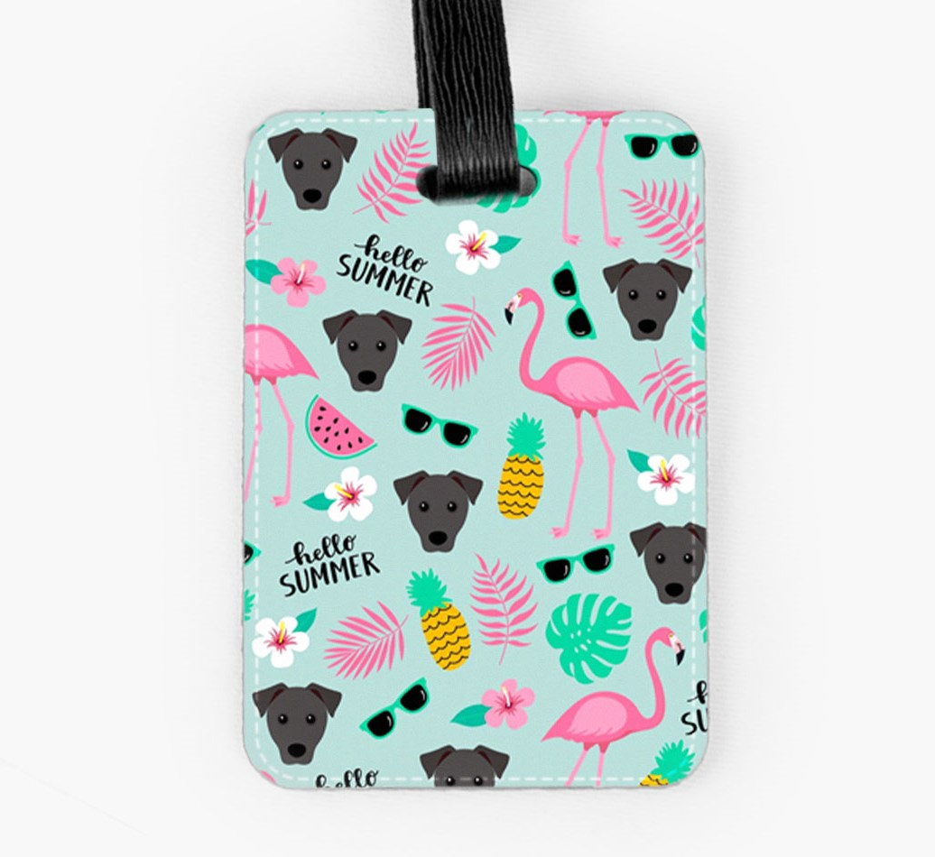 Patterdale Terrier Luggage Tag Front