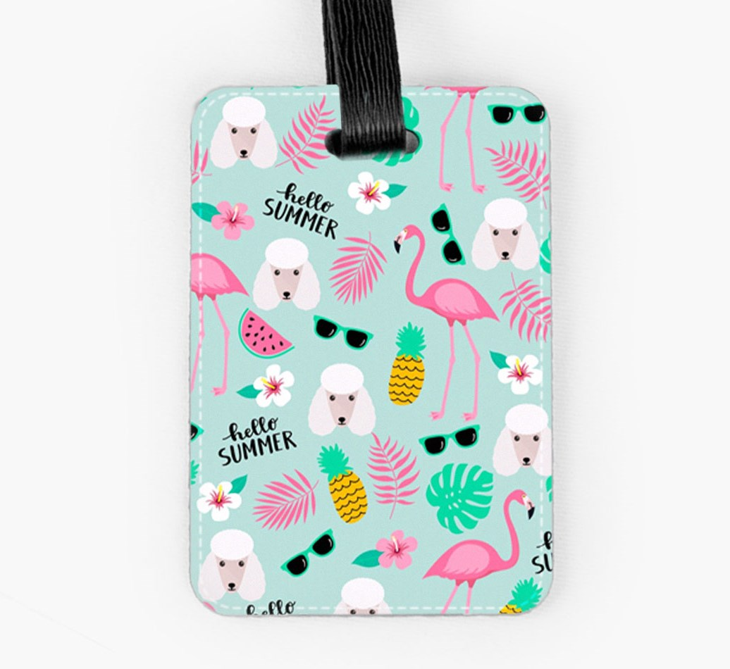 Poodle Luggage Tag Front