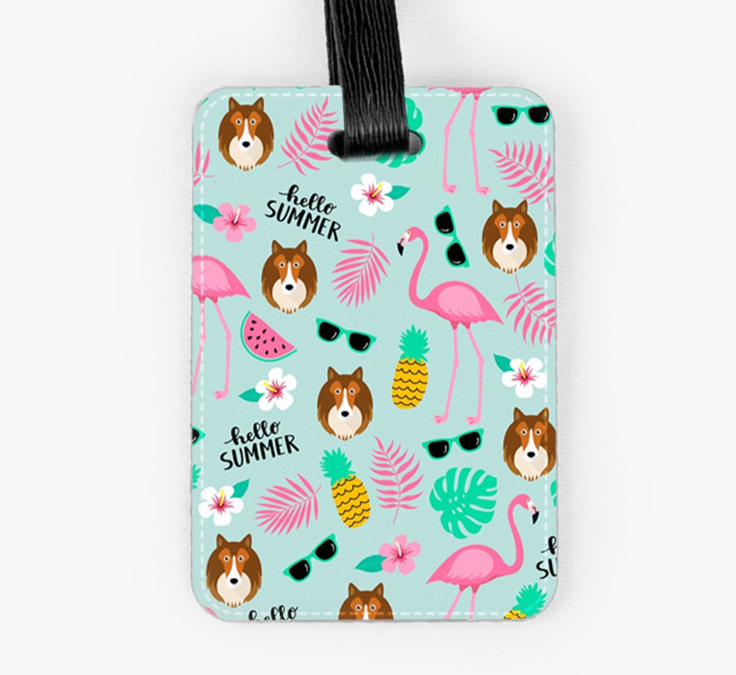 Shetland Sheepdog Luggage Tag Front