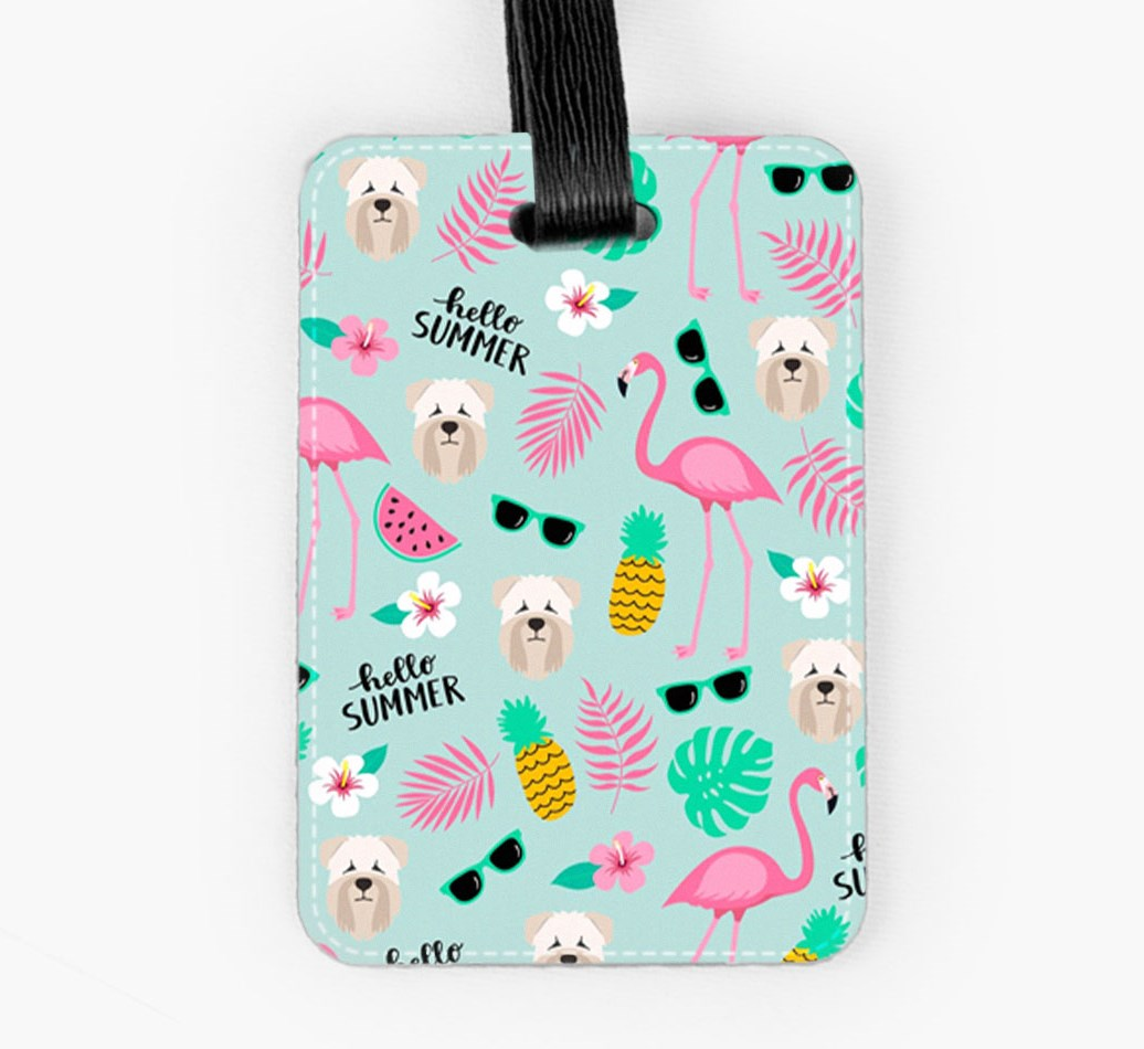 Soft Coated Wheaten Terrier Luggage Tag Front
