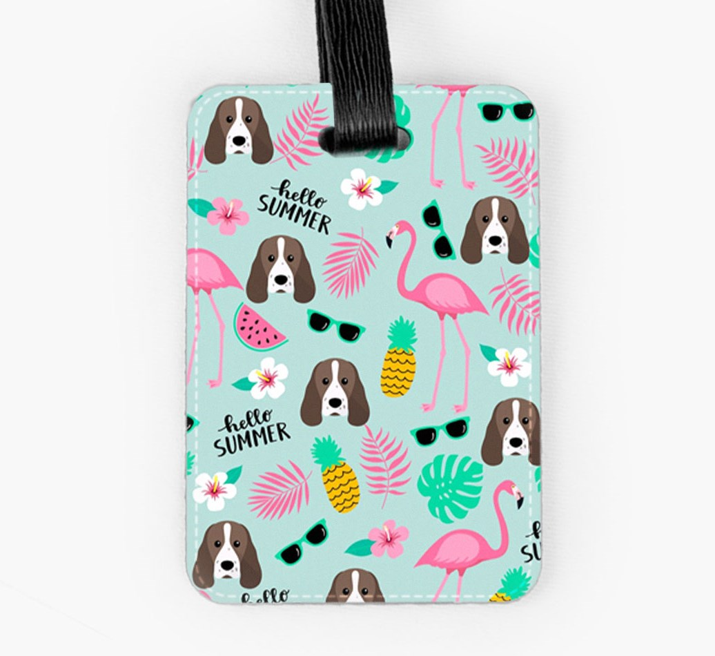 Sprocker Luggage Tag Front