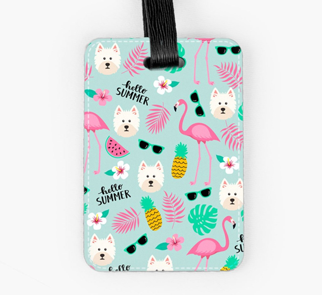West Highland White Terrier Luggage Tag Front