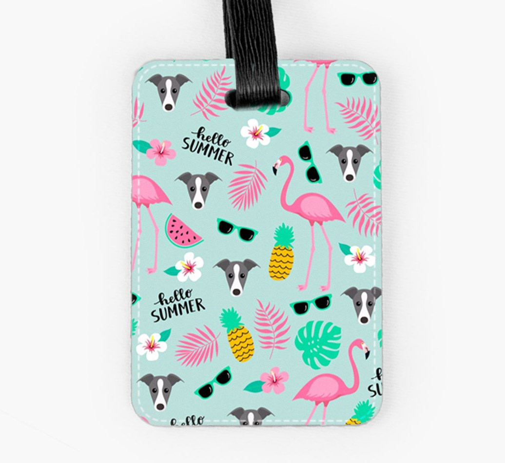 Whippet Luggage Tag Front