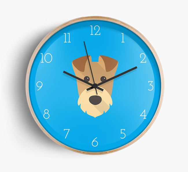Wall Clock with Airedale