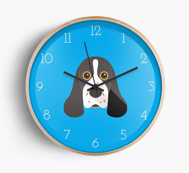 Wall Clock with Cocker Spaniel