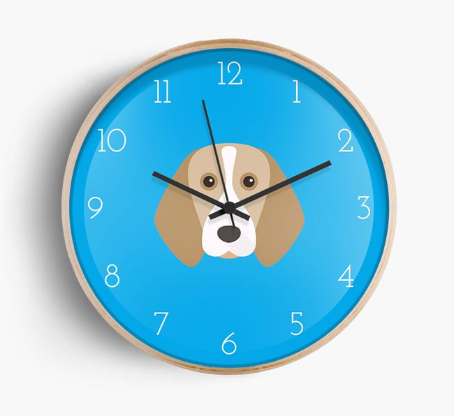 Wall Clock with Beagle