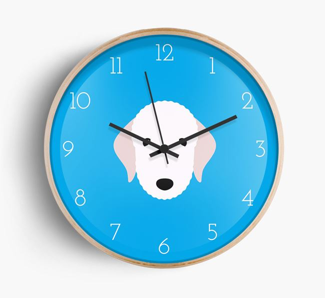 Wall Clock with Bedlington