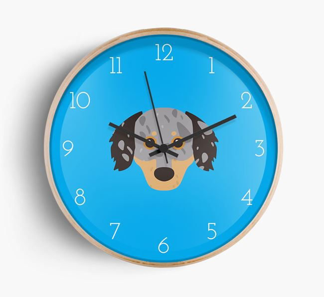Wall Clock with Chiweenie