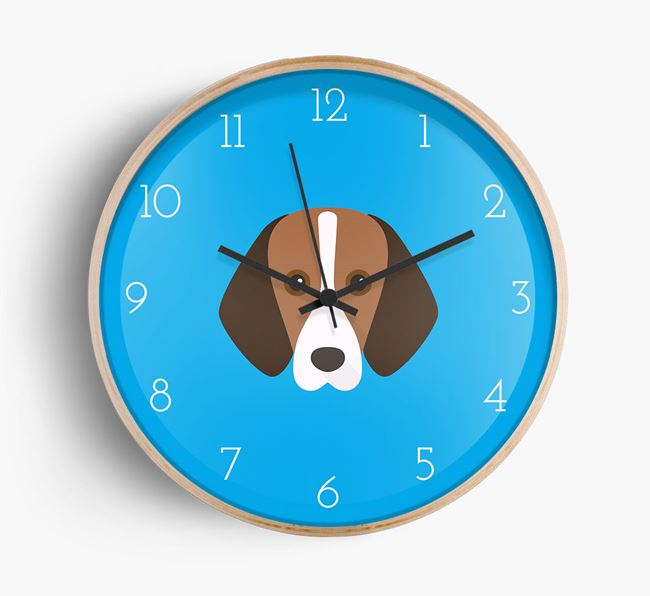 Wall Clock with Foxhound