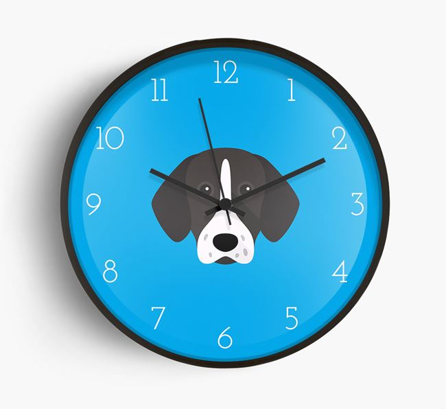 Wall Clock with Shorthaired Pointer