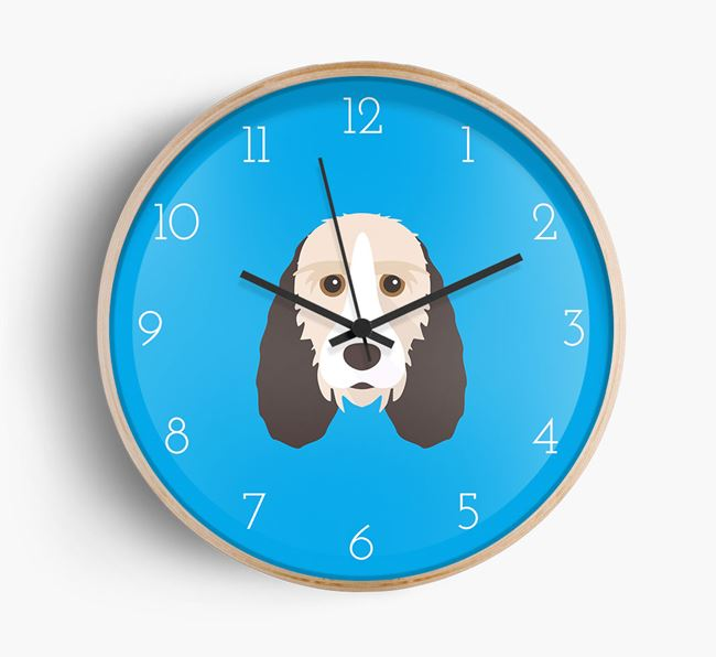 Wall Clock with Basset Griffon