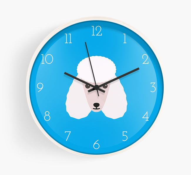 Wall Clock with Poodle