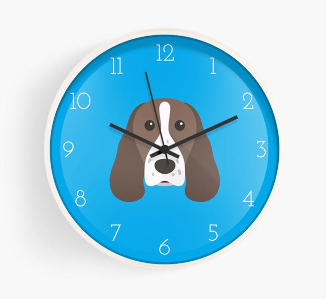 Wall Clock with Springer Spaniel