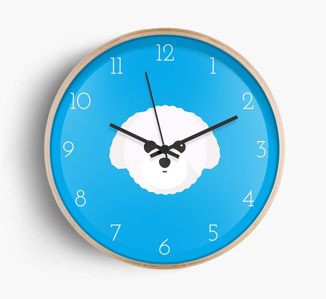 Wall Clock with Toy Poodle