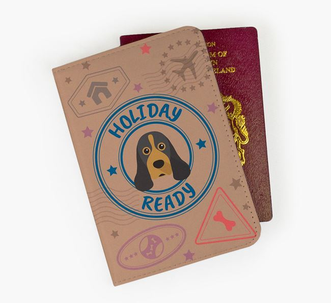 'Holiday Ready' American Cocker Spaniel Passport Cover
