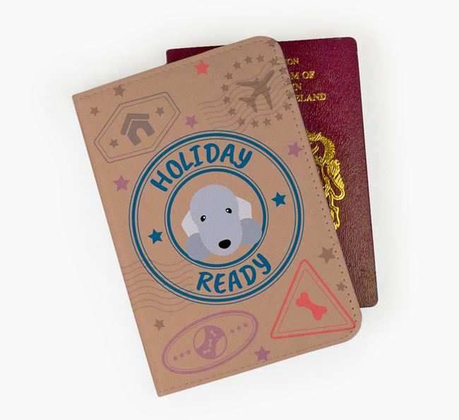 'Holiday Ready' Bedlington Terrier Passport Cover