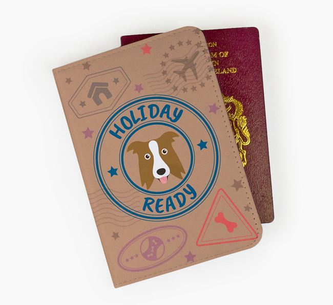 'Holiday Ready' Border Collie Passport Cover
