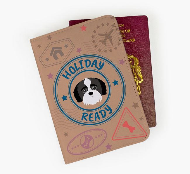 'Holiday Ready' Jack-A-Poo Passport Cover