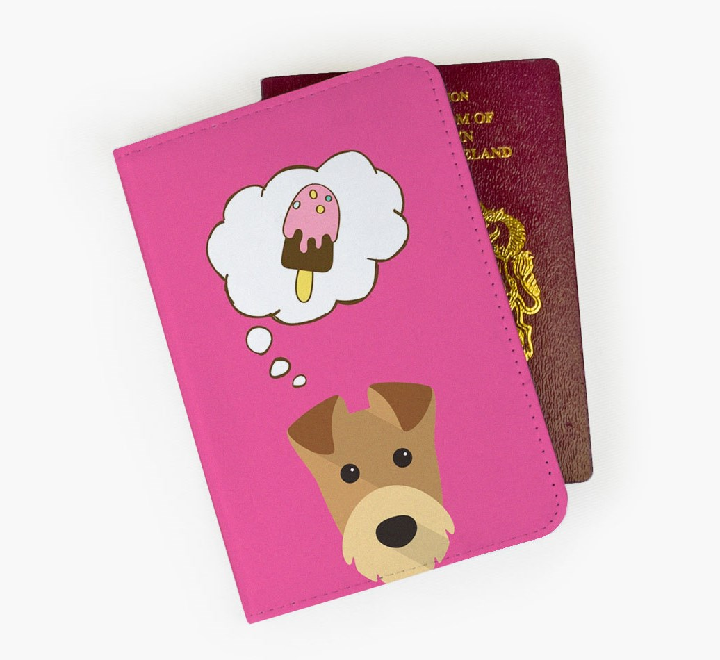 Airedale Terrier Passport Cover Front