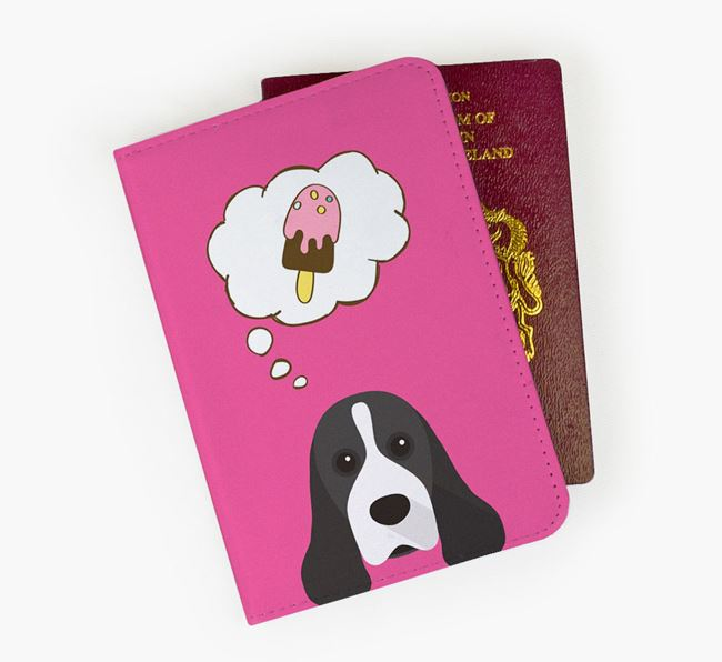 Passport Cover 'Ice Cream Dream' with American Cocker Spaniel Icon