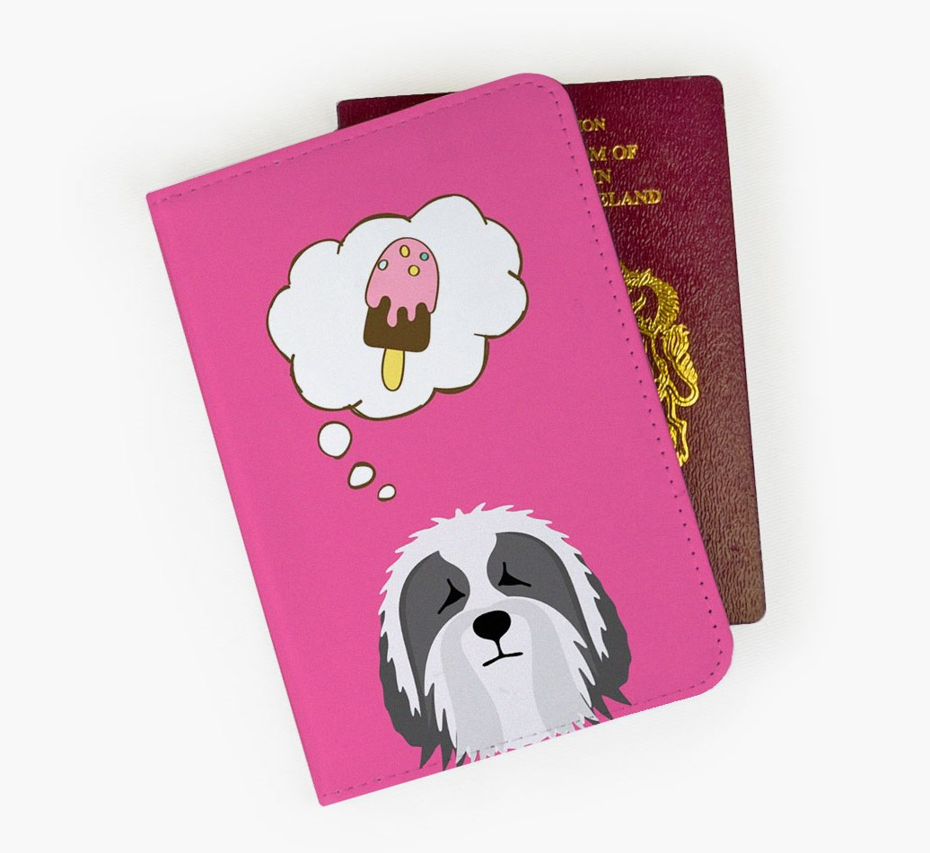 Bearded Collie Passport Cover Front