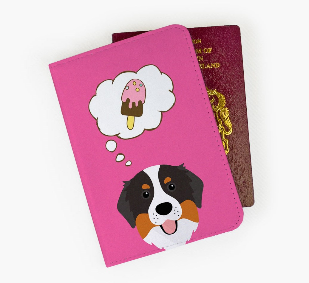 Bernese Mountain Dog Passport Cover Front