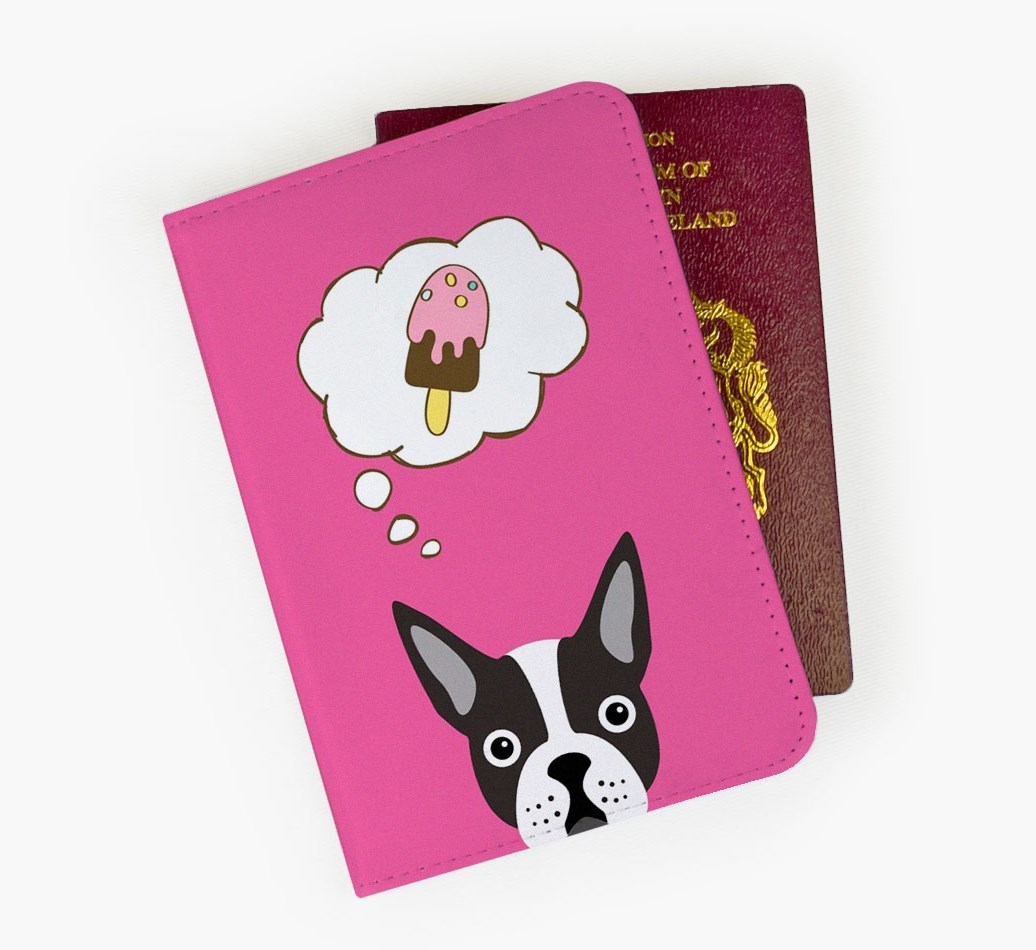 Boston Terrier Passport Cover Front