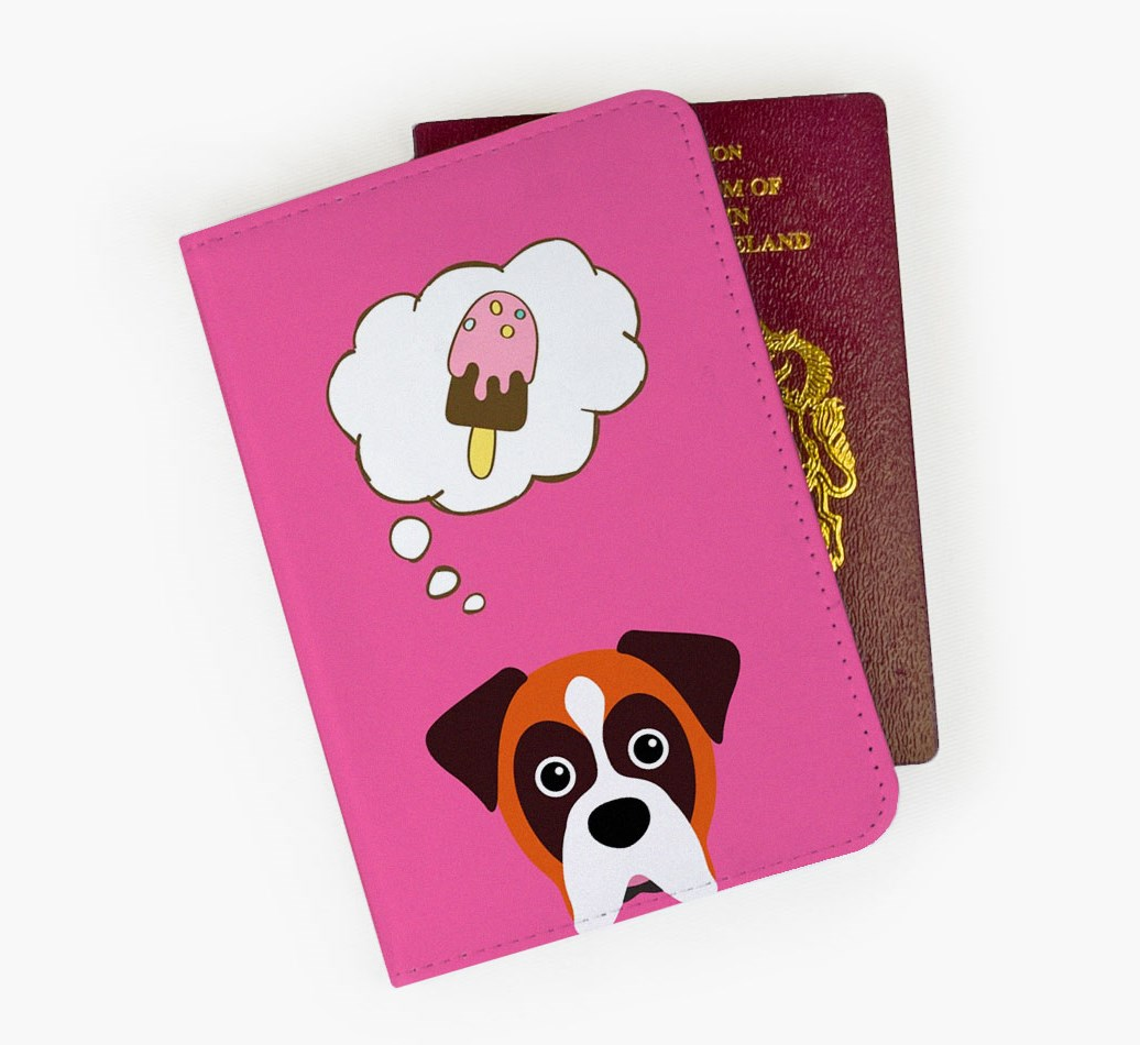 Boxer Passport Cover Front
