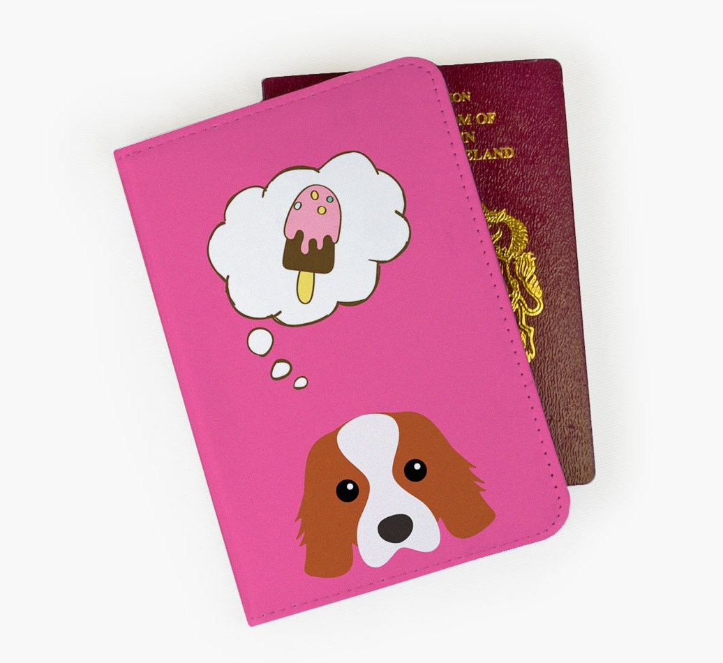 Cavalier King Charles Spaniel Passport Cover Front