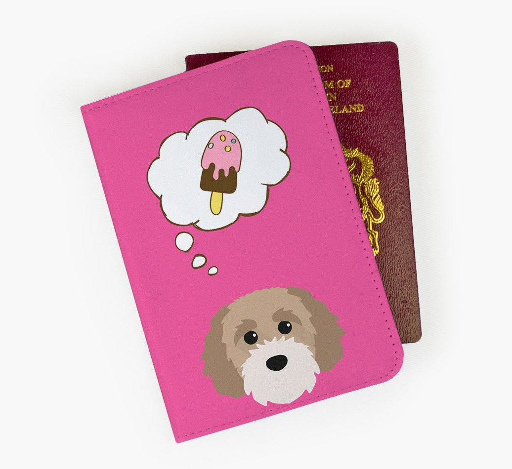 Cavapoochon Passport Cover Front