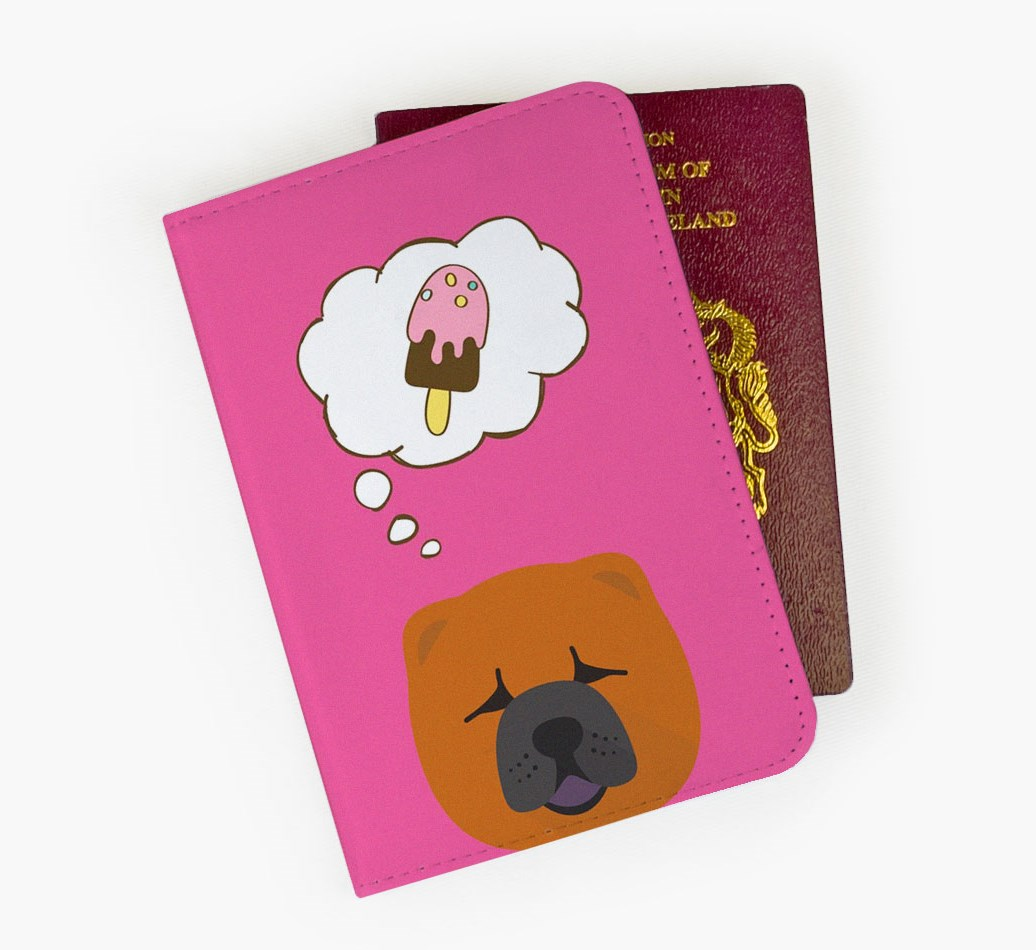 Chow Chow Passport Cover Front