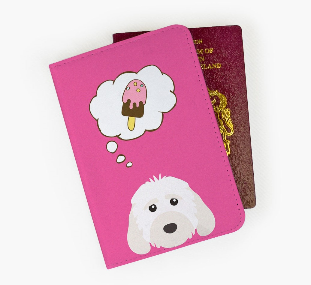 Cockapoo Passport Cover Front