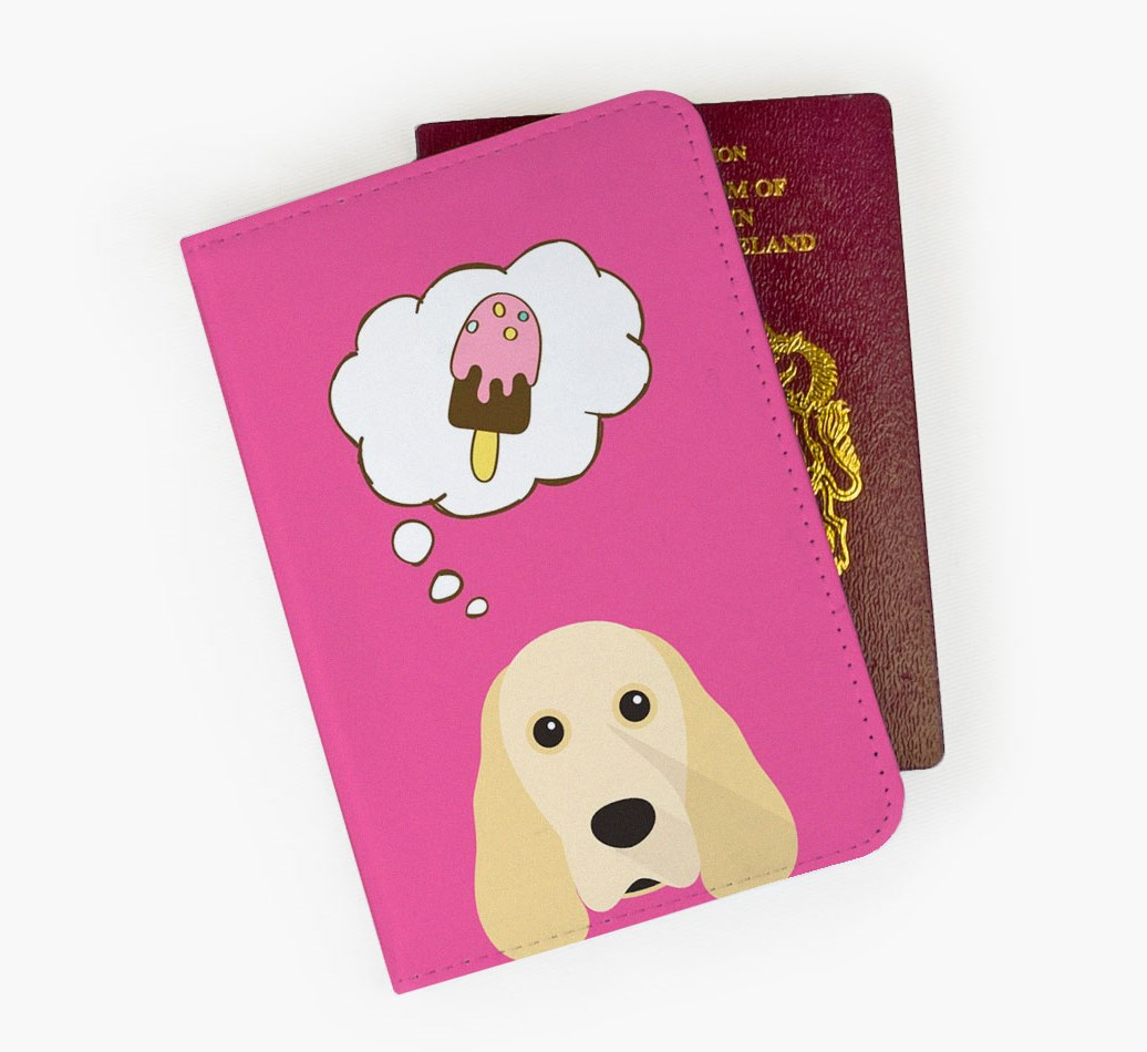 Cocker Spaniel Passport Cover Front