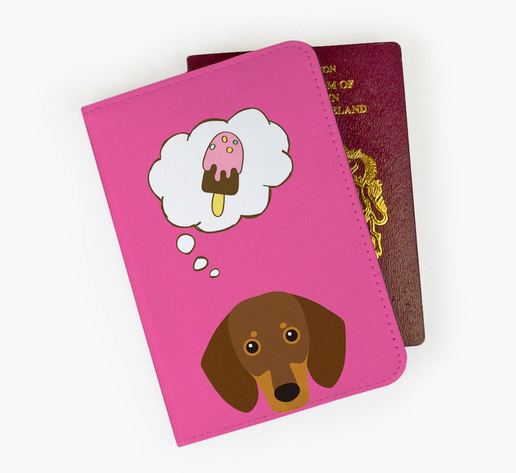 Dachshund Passport Cover Front