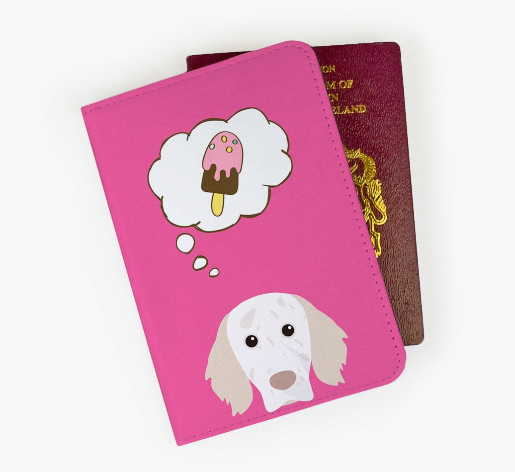 English Setter Passport Cover Front