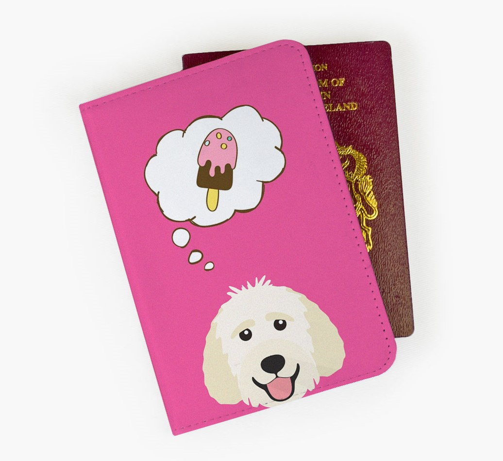 Goldendoodle Passport Cover Front