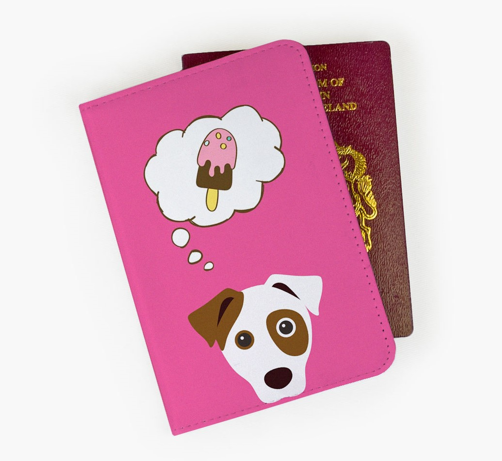 Jack Russell Terrier Passport Cover Front