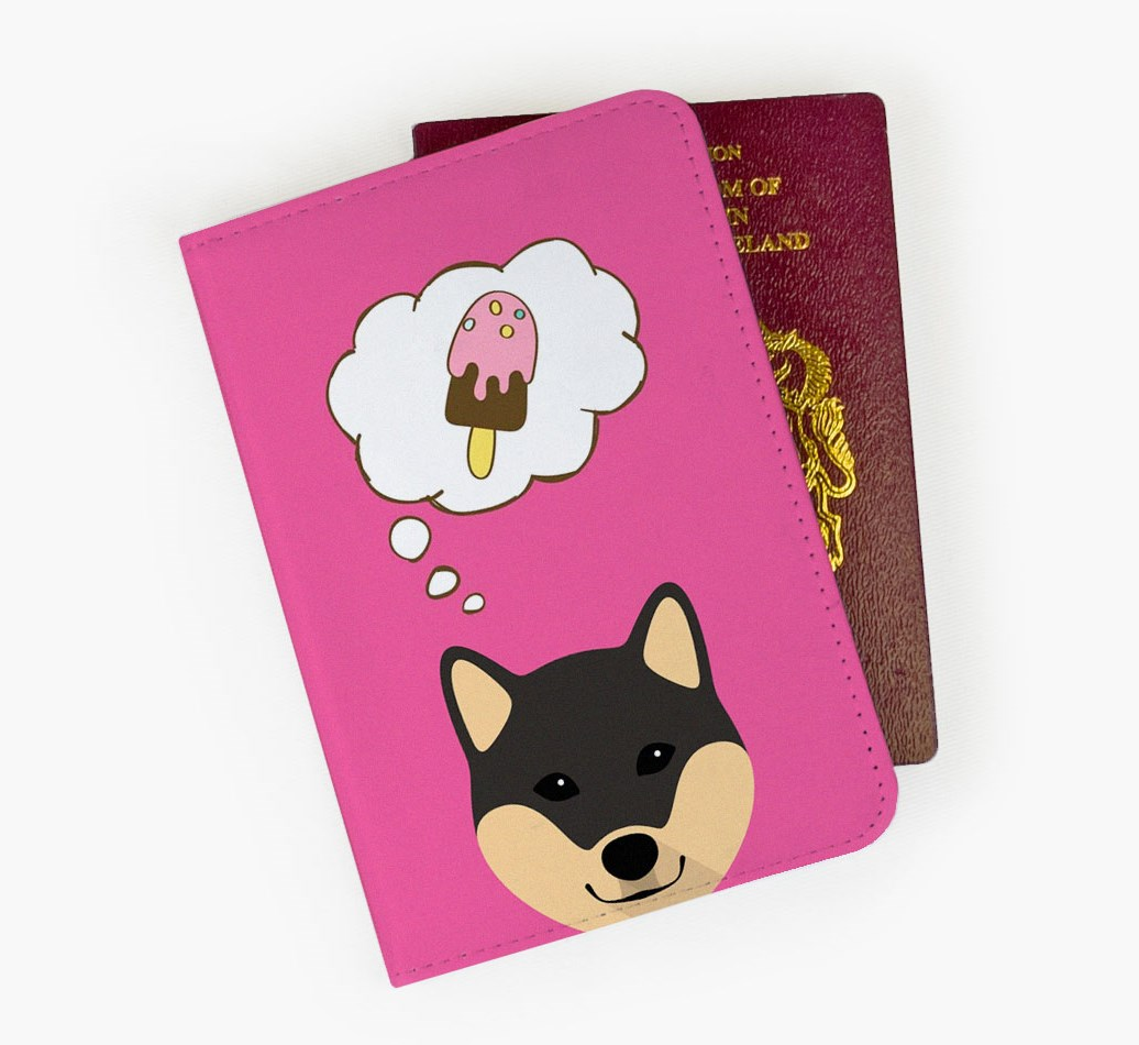 Japanese Shiba Passport Cover Front