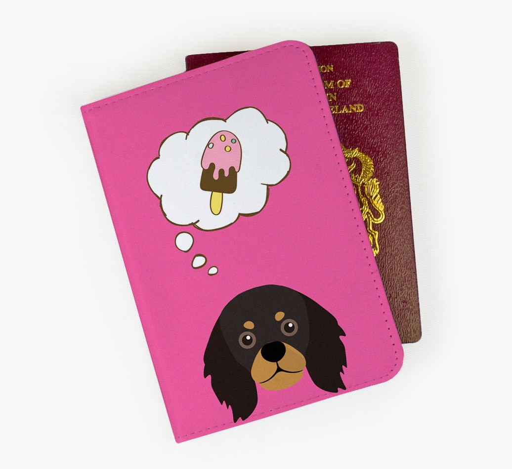 King Charles Spaniel Passport Cover Front
